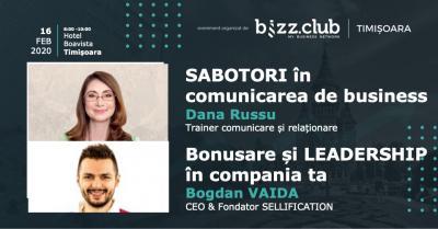 SABOTORI în Comunicare (Dana Russu) & Bonusare și LEADERSHIP în compania ta (Bogdan Vaida)